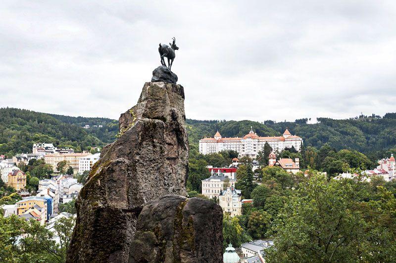 Олений прыжок, является одним из главных символов Карловых Вар