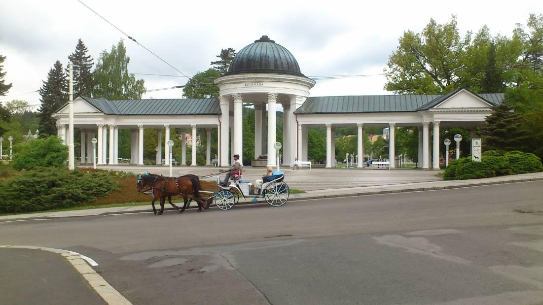 Марианские Лазне это курорт в Чехии. Коллонада в Марианских Лазне.