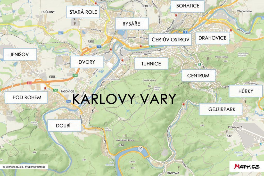 Особенности городских районов Карловых Вар