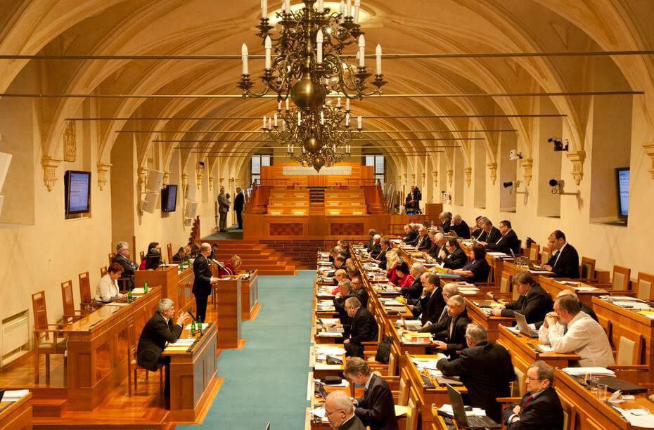 Залы чешского Сената